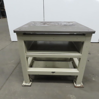 "1"" Blanchard Ground Top 36x36x35-3/4"" Steel Machine Base Layout Work Bench Table"