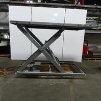 "2000 Lb. Hydraulic Scissor Lift Table 49-1/2""x110"" Top 10"" - 72"" Ht 230/460V 3Ph"