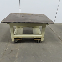 "1"" Blanchard Ground Top 36x46x35-27-1/2"" Steel Machine Base Work Bench Table"