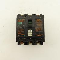 Fuji EA33 BB3AEA-020 20A 220V 3 Pole Circuit Breaker