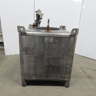 350 Gallon 304 Stainless Steel Liquid Tote Tank W/SPX Lightnin Pneumatic Mixer
