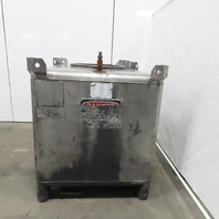 350 Gallon 304 Stainless Steel Liquid Tote Tank W/Fork pockets