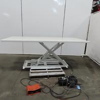 "Southworth LM1 1000LB Hydraulic Scissor Lift Table 96x42"" 3-35"" Height 115V 1Ph"