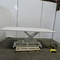 "Southworth LM1 1000LB Hydraulic Scissor Lift Table 96x42"" 3""-36"" Height 115V 1Ph"