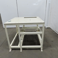 "1/4"" Thick Top Steel Machine Base Layout Work Bench Table 44""x44""x37-1/2"""