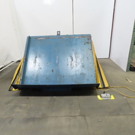 """2000 LB Hydraulic 45° Container Tilter 208-230/460V 3Ph 60""""W x 50""""D"""