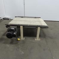 """38"""" Slide Bed Belt Conveyor 27"""" Wide 4.6 FPM 115V Single Phase"""