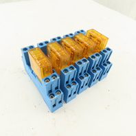 Finder Type 40.52 Relay 120V With Base Lot Of 5