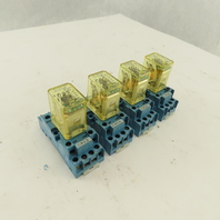 Finder RY4S-UL 120V Ice Cube Relay With Socket Lot Of 4