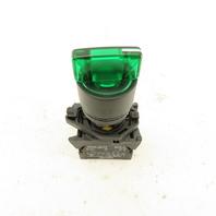 Allen Bradley 800E-3X10 Green Luminated 3 Position Selector Switch 600V