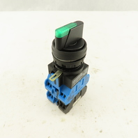 Idec HW1F-3F30QD 120V Green LED Illuminated 3 Position Selector Switch