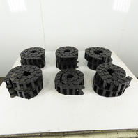 """KS 0450.41 Power Track Energy Chain Cable Guide 2-1/4""""x1""""x45"""" Long Lot of 11"""