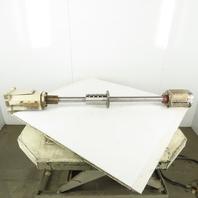 """Okuma Howa 2SP-V60 Z Axis Ball Screw Assembly 26"""" Travel 50mm 49-3/8"""" OAL"""