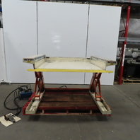 """Pneumatic Air Over Hydraulic 2000LB Low Profile Ground 0-36"""" Scissor Lift Table"""