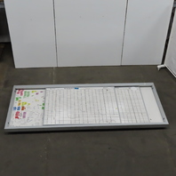 5'H x 12'W Magnetic Dry Erase Board W/2 Horizontal Sliding Panels Wall Mount