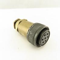 JAE 20-15SE 26.5mm Circular Connector Brass Body 7 Pin Female