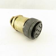 JAE 24-10SE 26.5mm Circular Connector Brass Body 7 Pin Female