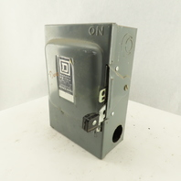Square D D322N 60A 240V Fused Service Safety Disconnect Switch