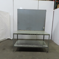 "30"" W x 64""L x 31-1/2""H 11 Gauge Steel Metal Work Bench Table W/Bottom Shelf"