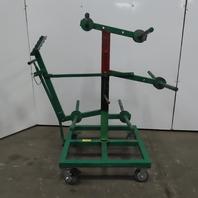 Greenlee 910 14 Spindle Wire Dispenser Cart