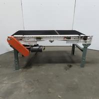 """Roach 72"""" Slide Bed Belt Conveyor 24"""" Wide Belt 60 FPM 115V Single phase"""