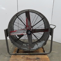 Heat Buster 48 Inch Belt Drive Portable Blower Drum Fan 208-230/460V 3Ph