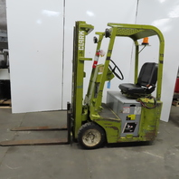 "Clark TW25 24V Electric 3 Wheel Forklift 2500LB Cap 171"" Lift 42"" Forks 2517Hrs"