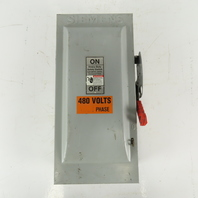 Siemens HNF363 100A 600V 3 Pole Non Fused Safety Service Disconnect Switch