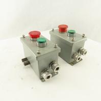 Wiegmann PBGX2 2 Button Machine Control Station Remote Start Stop 24-400V Lot/2
