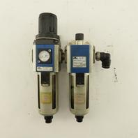 Nitra AFR-3233-A 1/4 NPT Air Pressure Filter Regulator Lubricator FRL