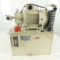 Ikeyama Seisakusho 6KK3-6105-2 1.5kW 3Ph 200/220V 7-1/2 Gal Hydraulic Power Unit