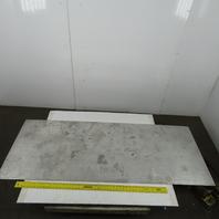 "6061 T6051 1/4"" (0.250"") Aluminum Sheet Plate Mill Finish 72"" x 28"" USED"