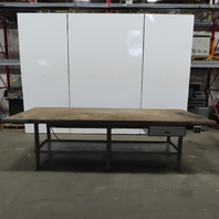 "120""Wx 48""Dx35""H Wood Top 2 Sided Work/Production/Inspection Bench W/Drawers"