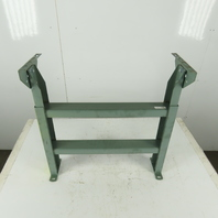 """24"""" Wide Incline Flat Bed Conveyor Leg Floor Support Approx. 13-19"""" Height"""