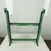 """30"""" Wide Incline Flat Bed Conveyor Leg Floor Support Approx. 35-42"""" Height"""