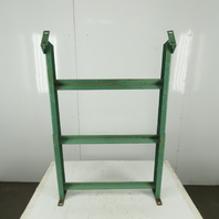 """30"""" Wide Incline Flat Bed Conveyor Leg Floor Support Approx. 46-50"""" Height"""