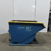 "Self Dumping 1 Cubic Yard Tilt Truck Trash Chip Scrap Hopper 40""W x60""L x 38""D"