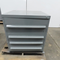 "4 Drawer Industrial Parts Tool Storage Shop Cabinet 30""W x 28""D x 33-1/4""H"