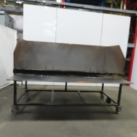 "Industrial 37-3/4"" x 95"" x 32""H Steel Bulk Parts Sorting Bin Hopper"