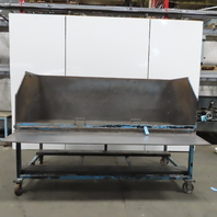 "Industrial 37-3/4"" x 95"" x 32""H Steel Parts Sorting Bin Hopper W/Fork Pockets"