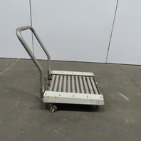 """Stainless Steel 1.90"""" Gravity Roller Fixture Tooling Changer Cart 21""""x27"""""""