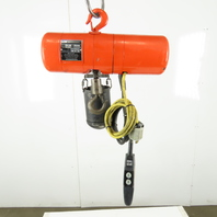 CM Lodestar Model B2 1/4 Ton Electric Chain Hoist 10' Lift 2 Speed 16/5 FPM 230V