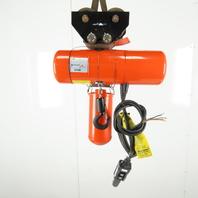 CM Lodestar F2 1/2 Ton Electric Chain Hoist 11' Lift 2 Speed 16/5 FPM 480V 3Ph