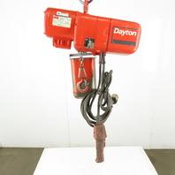 Dayton  3KR14 1/4 Ton Electric Chain Hoist 10' Lift 16FPM 115V Single Phase