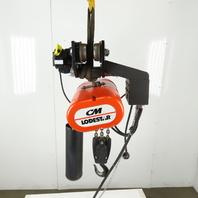 CM Lodestar RRT Electric Hoist 3 Ton 9' Lift Vari Speed 635 Power Trolley 230V