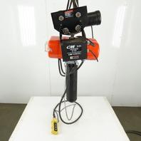 CM Lodestar RRT Electric Hoist 3 Ton 9 Lift Vari Speed 635 Power Trolley 230V