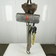 CM Lodestar R Electric Chain Hoist 2 Ton 20' Lift 8FPM 208-230/460V W/Trolley