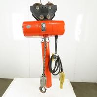 Cm Lodestar RR2 Electric Chain Hoist 2 Ton 5/16FPM 2 Spd 20'Lift 460V W/Trolley