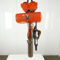 Cm Lodestar RR2 Electric Chain Hoist 2 Ton 5/16FPM 2 Spd 15'Lift 460V W/Trolley