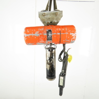 Cm Lodestar L2 Electric Chain Hoist 1 Ton 5/16FPM 2 Spd 20' Lift 460V W/Trolley